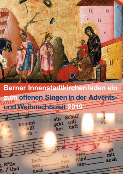 Flyer offenes Adventssinegen Bern